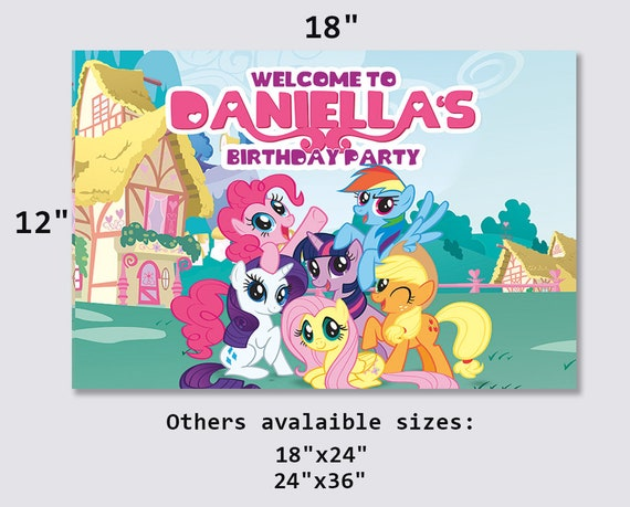 My Little Pony Party Sign With Stand My Little Pony Movie My Little Pony Party My Little Pony Birthday My Little Pony Decoration - my little pony eg roblox