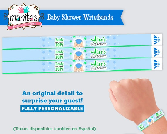 photograph about Printable Wristbands identified as Boy or girl Shower Favors Printable Wristbands - Little one Shower Decorations - Kid Shower Game titles - Boy or girl Shower Favors Boy - Kid Shower