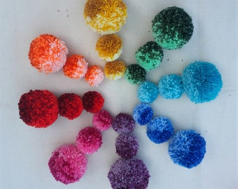 db51b4c711b Wool Pom Poms 5 x 85 mm