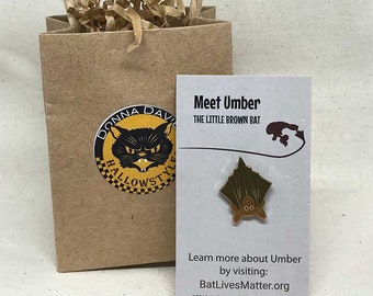 Umber the Little Brown Bat Enamel Pin