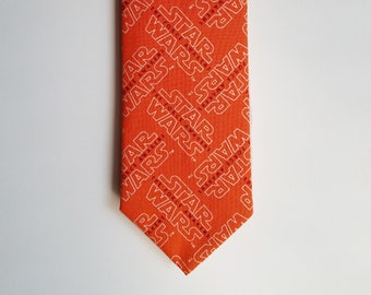 Orange Star Wars The Force Awakens Necktie