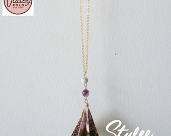 Dewdrop Origami Necklace