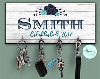 key ring holder, key holder, key rack, key hanger, key hook, realtor gift, wall key rack, key holder, custom key rack, personalized key rack