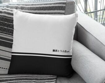 JDM Car Girl Pillow Home Goods Initial D Spun Square Pillow Car Guy Anime Aesthetic Gift for Anime Fans Anime Fans