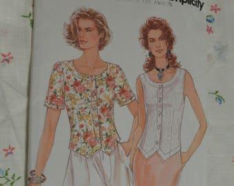 Simplicity 9012 MIsses Top Sewing Pattern - UNCUT - Size 8 - 18