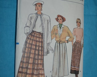 Vogue 9754 Misses Skirt Sewing Pattern - UNCUT - Size 14 16 18 Straight A Line or Slight Flared above Ankle Skirt