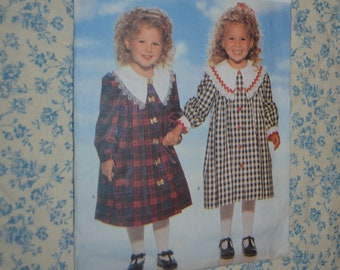 Butterick 4268 Toddlers / Childrens Dress Sewing Pattern UNCUT Sizes 5 6 6X