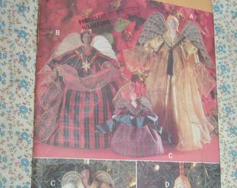 Butterick 5114 Decorative Angels Sewing Pattern - UNCUT Angel Ornaments,