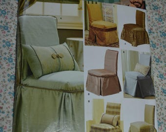 Simplicity 4094 Christopher Lowell Chair Slipcovers Sewing Pattern - UNCUT
