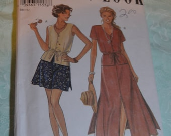 New Look 6242 Misses Top Skirt and Shorts Sewing Pattern - UNCUT - Size 6 - 16