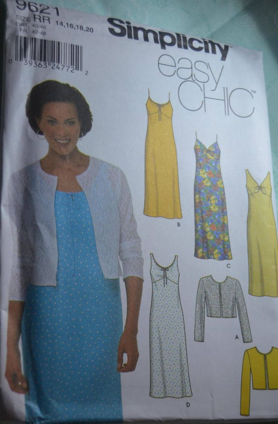 Simplicity 9621 Misses Dress And Jacket Sewing Pattern Etsy