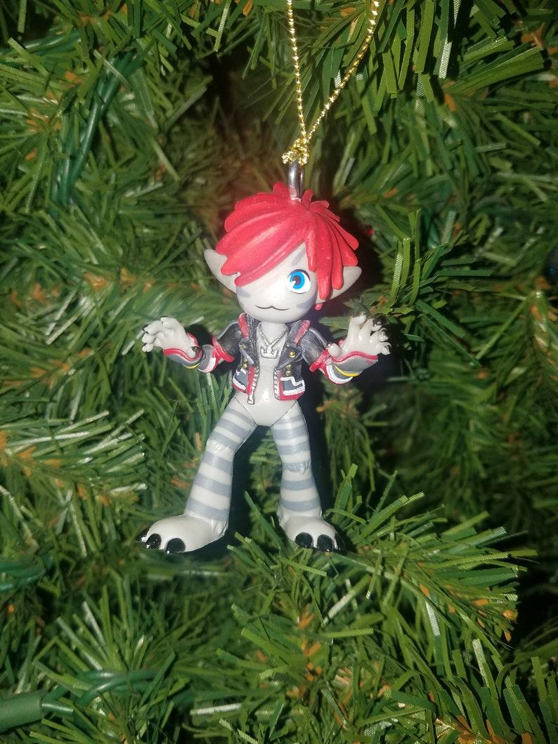 Kingdom Hearts Christmas.Kingdom Hearts Christmas Ornament Monster S Inc Sora Grey