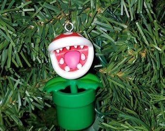 Nintendo Super Mario Bros Christmas Ornament Piranha Plant
