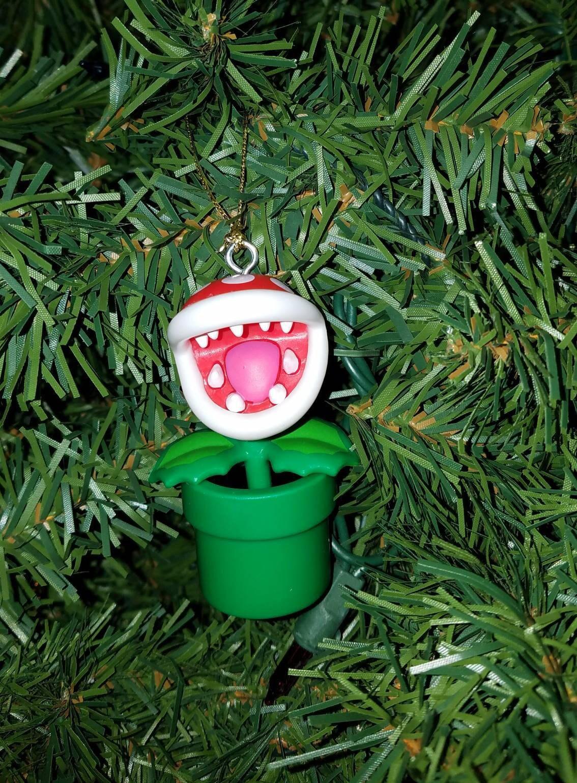 Nintendo Super Mario Bros Christmas Ornament Piranha Plant | Etsy