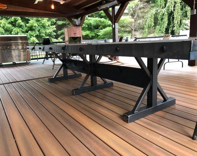 Metal Table Base, Industrial, Farmhouse
