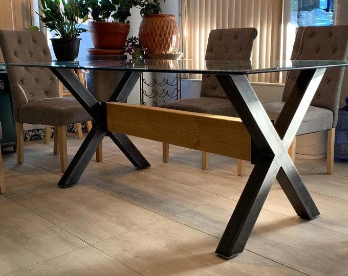 X-Shaped Metal Legs, Cool Table Base, Farmhouse Table Legs