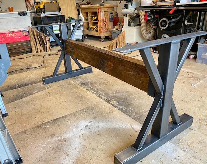 Steel Table Base, Farmhouse, Custom Sizes, Industrial