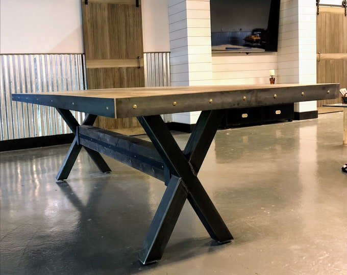 X-Shaped Metal Legs, Farmhouse Table Legs, Industrial Metal Base