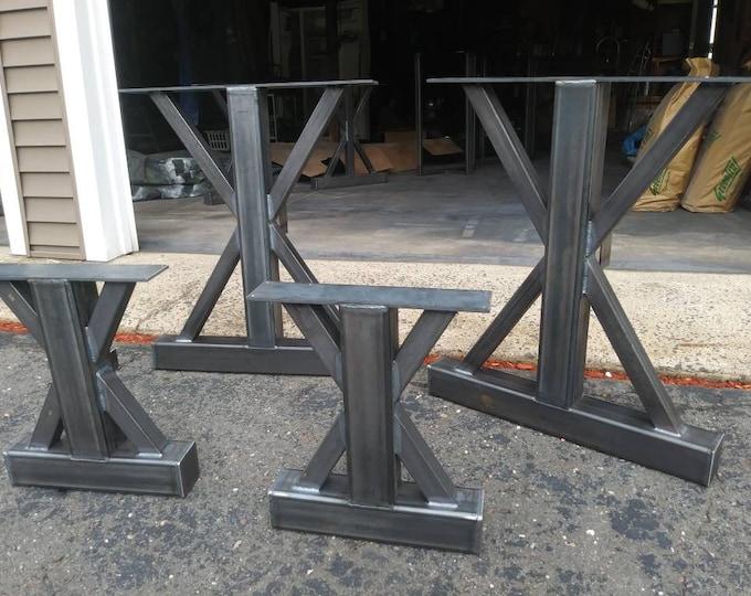 Metal Table Base,Dining & Bench Set, Industrial Steel Base
