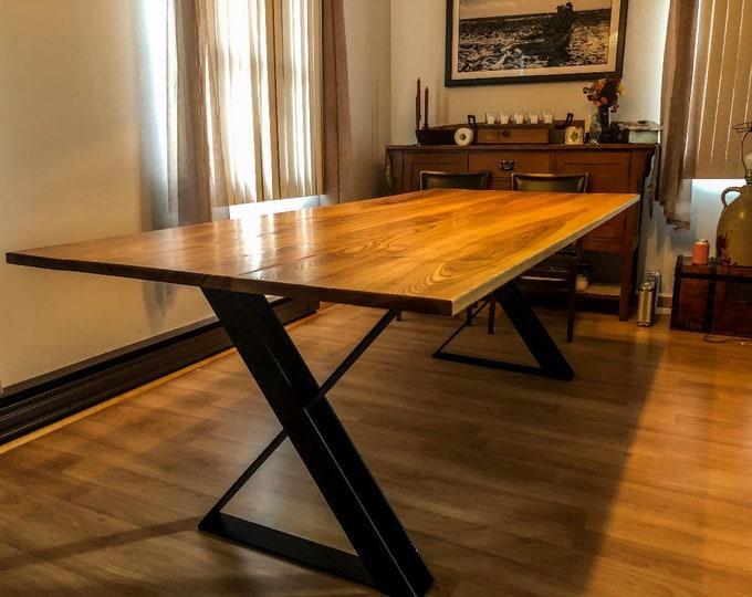 X-Shaped Table Base, Industrial Metal Legs