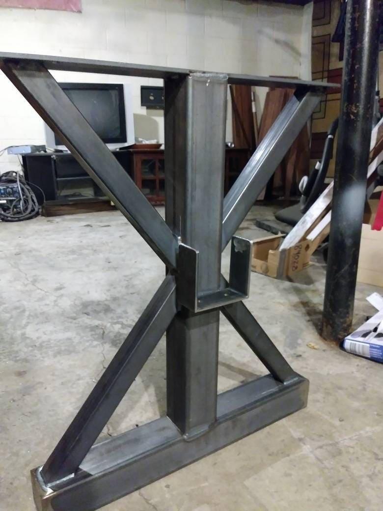 Trestle Metal Table Legs Steel Table Base Custom Sizes