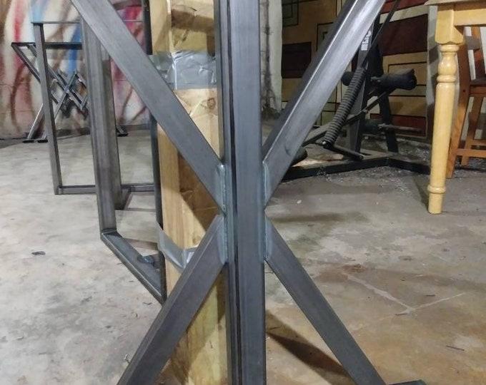 Industrial Table Base, Farmhouse, Custom Sizes