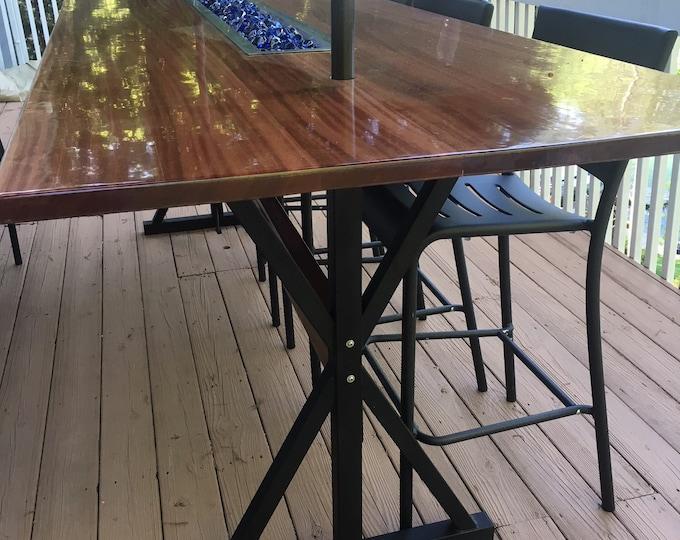 Bar Height Trestle Table Base, Industrial
