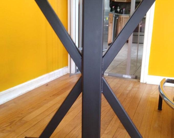 Trestle Table Base, Black Metal Table Legs, Farmhouse , Industrial, Custom Sizes