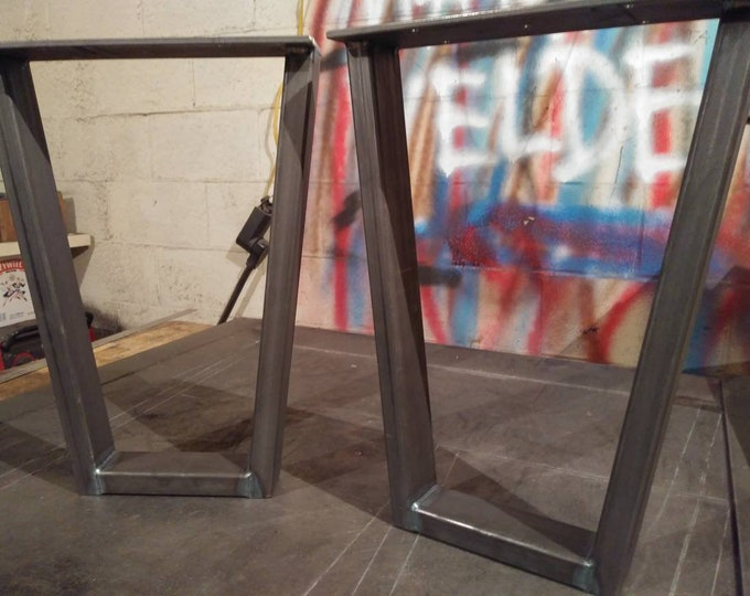 Tapered Metal Table Base. Industrial