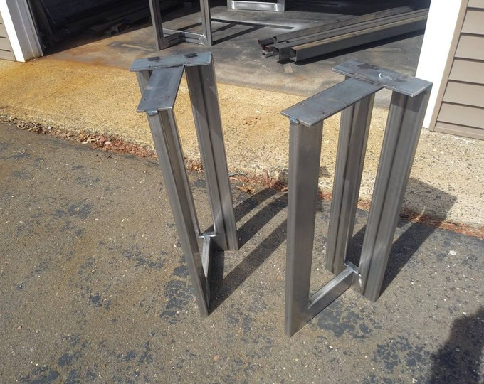 Industrial Table Base, T Shaped