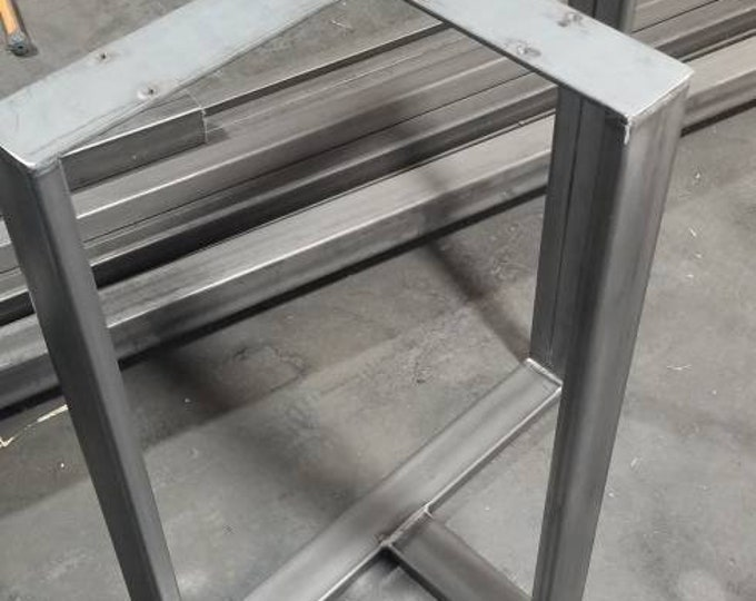 T shaped table base, levelers, industrial