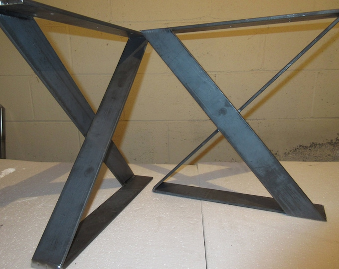 X Shaped Steel Table Base, Industrial Metal Base