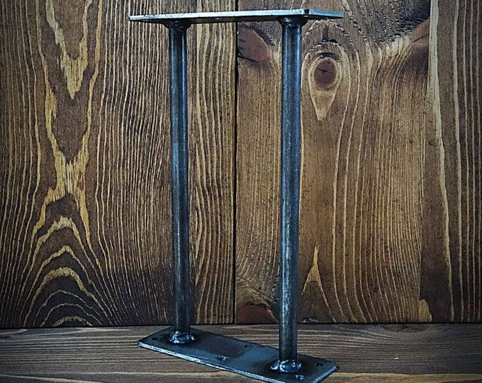 Shelving Metal Connector - Shelf-Shelves - Metal Leg - Industrial base - Custom Size Shelf Base - shelf