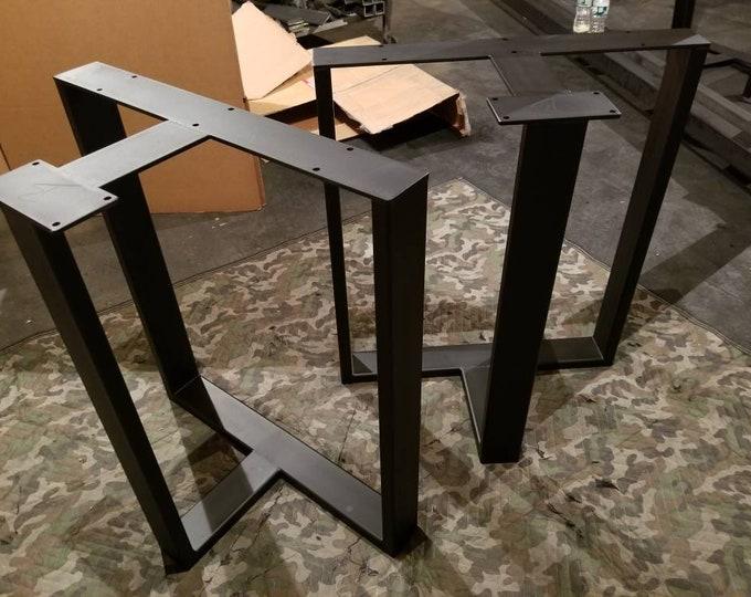 T Shaped Metal Table Legs, Super Heavy Duty, Industrial