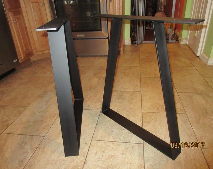 Black Trapezoid Table Legs