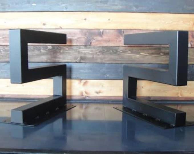 S-Shaped Metal Table Legs - Industrial