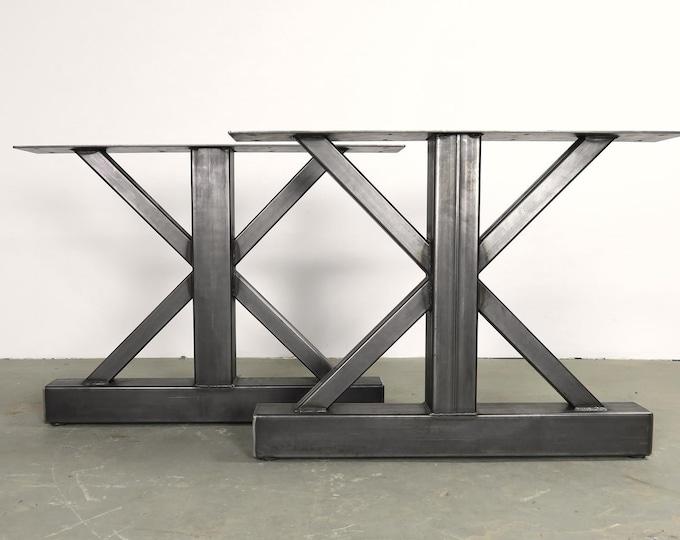 Metal Table Legs, Farmhouse Metal Base