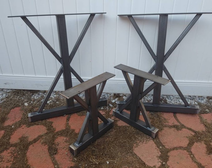 Trestle Metal Table Legs, Set of 4