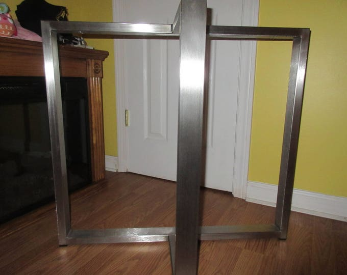 Stainless Steel T Shaped Table Base