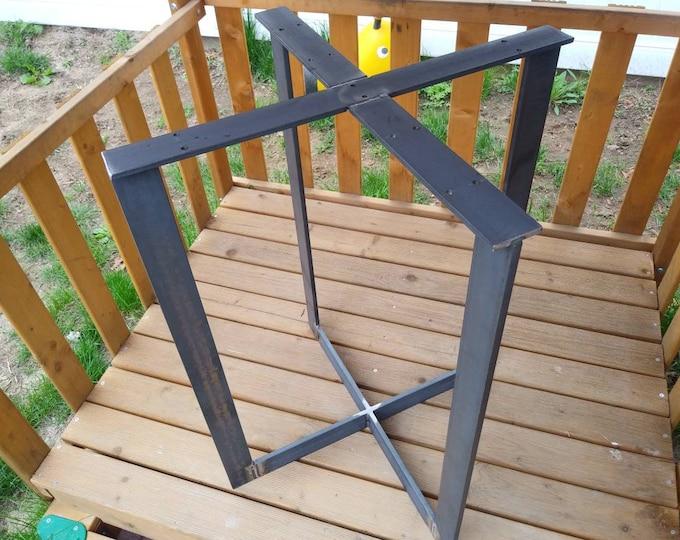 Metal Table Base, Custom Sizes, Industrial