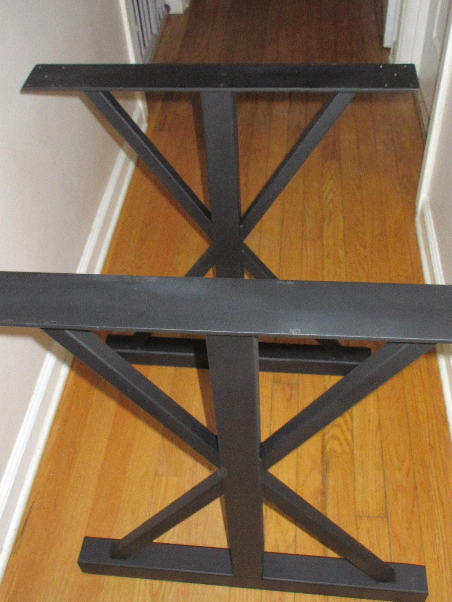 Trestle Metal Table Legs Steel Table Base Black Table Legs