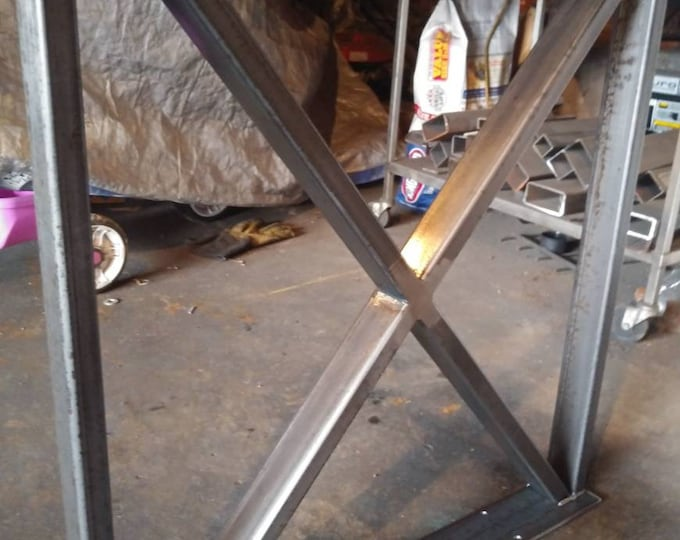 X-Shaped Table Base, Metal Table Legs, Industrial