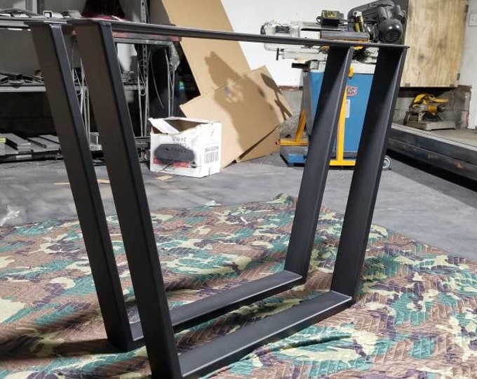 Industrial Metal Legs, Trapezoid Table Base