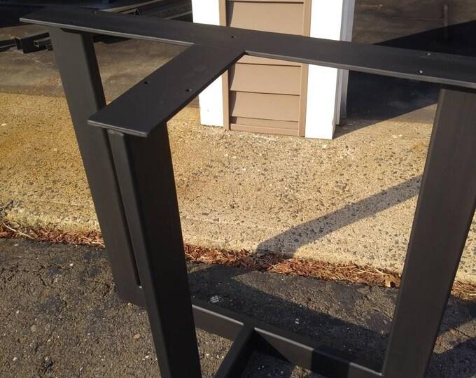 Metal Table Legs, Heavy Duty Industrial Base, T-Shaped
