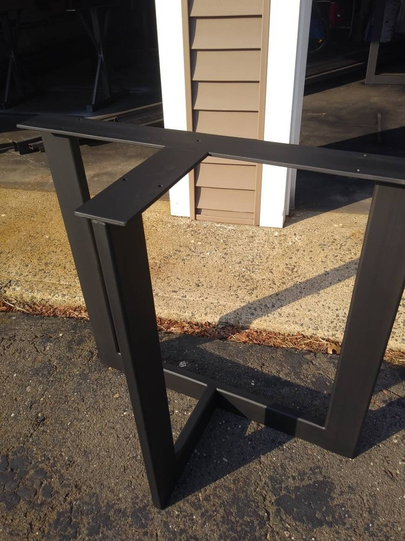 T Shaped Steel Legs, Metal Table Base, Super Stable   SET Of 2