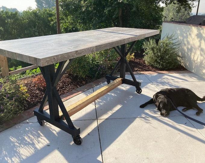 Metal Table Legs, Casters, Super Industrial
