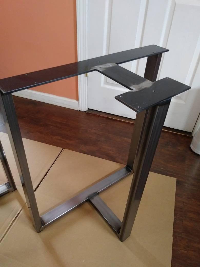 Industrial Steel T-Shaped Style Metal Table Base/Desk Legs ...