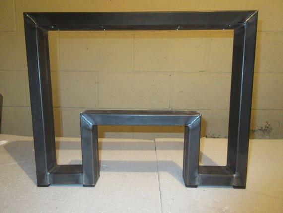 Superieur Raw Steel Bench Legs Set Of 2 Steel Bench Legs Steel Coffee | Etsy