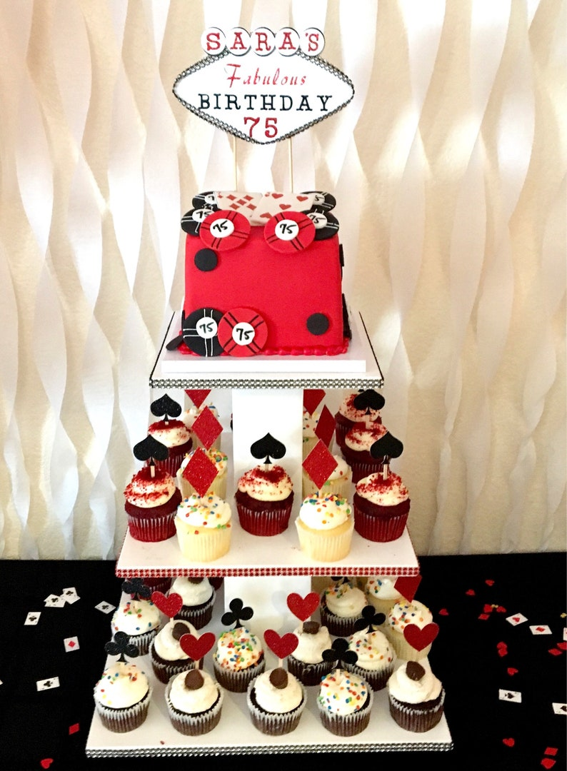 Card Suit Cupcake Toppers Casino Las Vegas