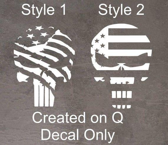 Bogo Car Deals >> Punisher Flag Decal Bogo Buy One Get One Free Punisher Decal Yeti Decal Car Decal Rtic Decal